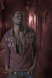 De Afrikaanse Amerikaanse mens van de heuphop Stock Foto