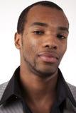 De Afrikaanse Amerikaanse mens van Headshot Stock Afbeelding