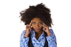 De Afrikaanse Amerikaanse vrouw voelt ziek Royalty-vrije Stock Fotografie