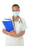 De Afrikaanse Amerikaanse zwarte stethoscoop van de artsenverpleegster Royalty-vrije Stock Afbeelding