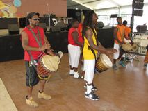 De Afrikaanse Band van de Muziek Royalty-vrije Stock Foto