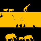 De Afrikaanse Illustratie van Dieren Royalty-vrije Illustratie