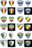 De Afrikaanse Kammen van de Vlag Royalty-vrije Stock Afbeeldingen