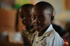 De Afrikaanse kinderen van de School Stock Foto's