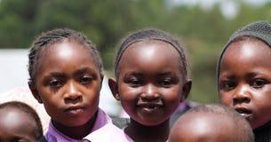 De Afrikaanse portretten van schoolkinderen stock foto's