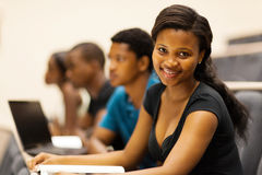 De Afrikaanse studenten spreken zaal Stock Fotografie