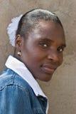 De Afrikaanse vrouw van het portret Stock Afbeeldingen