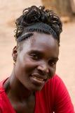 De Afrikaanse vrouw van het portret Royalty-vrije Stock Fotografie