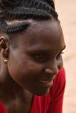 De Afrikaanse vrouw van het portret royalty-vrije stock afbeelding