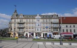 De afscheidingbouw in Czestochowa Stock Afbeeldingen