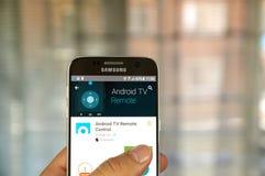 De Afstandsbediening van Google Android Stock Afbeeldingen