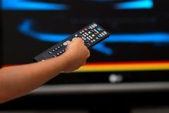 De afstandsbediening van Televison stock afbeelding
