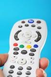 De Afstandsbediening van TV Stock Afbeeldingen