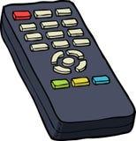 De afstandsbediening van TV stock illustratie
