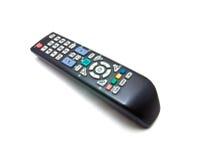 De afstandsbediening van TV die op witte achtergrond wordt geïsoleerd? Stock Fotografie