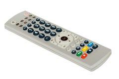 De afstandsbediening van TV die op witte achtergrond wordt geïsoleerd? Stock Illustratie