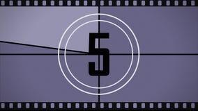 De aftelprocedure aan het begin van de film vector illustratie