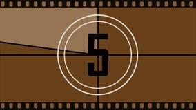 De aftelprocedure aan het begin van de film stock illustratie