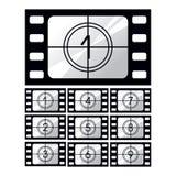De aftelprocedure van de film vector illustratie