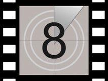 De aftelprocedure van de film Stock Fotografie