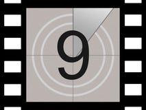 De aftelprocedure van de film Stock Afbeeldingen