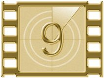 Filmaftelprocedure stock fotografie