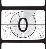 De aftelprocedure van de film bij nummer 0 vector illustratie