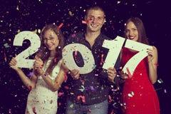 De aftelprocedure van het nieuwe jaar Stock Afbeeldingen