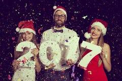 De aftelprocedure van het nieuwe jaar Stock Fotografie