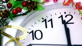 De aftelprocedure van het nieuwjaar stock footage