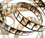 De Aftelprocedurespoel van de bioskoopfilm Stock Fotografie
