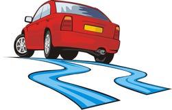 De afwijking van de auto stock illustratie