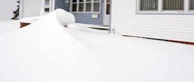 De Afwijking van de sneeuw Stock Foto's