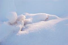 De afwijkingen van de sneeuw Stock Foto