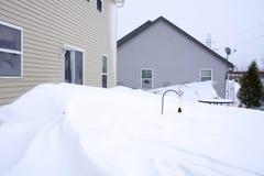 De afwijkingen van de sneeuw Stock Foto's