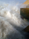 De afzet van de waterkrachtcentrale van Merowe Stock Fotografie