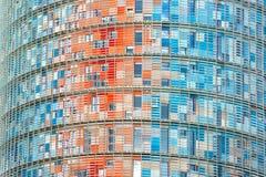 De Agbar Toren, Barcelona, Spanje. Stock Foto's