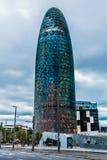 De Agbar Toren, Barcelona, Spanje Stock Fotografie