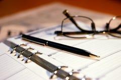 De agenda van de benoeming Stock Foto's