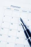 De agenda van de kalender Stock Afbeeldingen