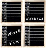 De Agenda van de week op Bord Royalty-vrije Stock Foto