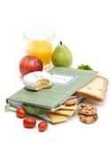 De Agenda van het Dagboek van het voedsel Stock Foto's