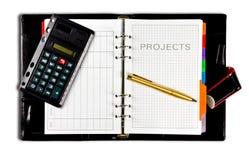 De agenda van projecten Royalty-vrije Stock Foto's