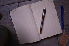De agendaverslagen en de boekhouding en andere verslagen stock foto's