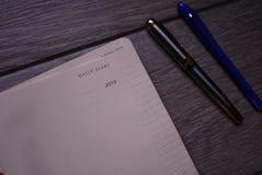 De agendaverslagen en de boekhouding en andere verslagen royalty-vrije stock foto's