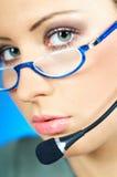 De Agent van het Call centre Stock Foto