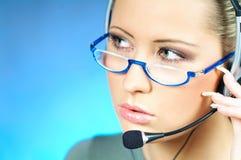 De Agent van het Call centre Stock Foto's
