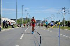 De agenten tijdens Marathon rennen Stock Fotografie