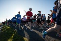 De agenten van de marathon Stock Foto's