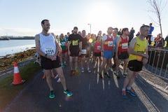 De agenten van de marathon Stock Foto